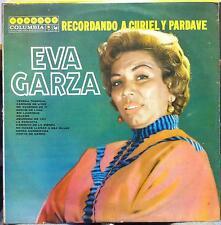 Eva Garza - Recordando A Curiely Y Pardave LP VG+ Mexico CBS HL 8100 Mono Latin