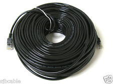 200FT 200 FT RJ45 CAT5 CAT 5 HIGH SPEED ETHERNET LAN NETWORK BLACK PATCH CABLE