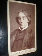Cdv old photograph actor Henry Irving Lock & Whitfield c1880s