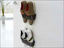 Magnetic Shoe Holder Fix it on Wall / Door / Cupboard - Brown Color
