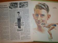 Article print Australia swimmer John Marshall 1951