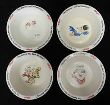 Lot of 4 Kelloggs Toucan Sam Tony Tiger Corny Plastic Cereal Bowl Collectible