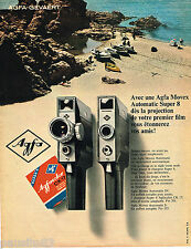 PUBLICITE ADVERTISING 055  1967  AGFA   caméra MOVEX AUTOMATIC SUPER 8