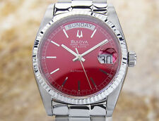 Swiss Men'S Bulova Super Seville Day Date S. Steel Automatic Watch 80'S Scx333