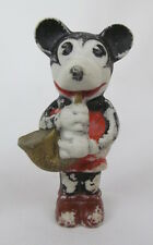 """VINTAGE 1930'S MICKEY MOUSE BISQUE FIGURINE WITH SAXOPHONE """"MADE IN JAPAN"""""""