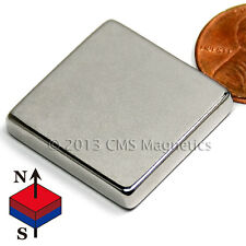 "N42 1"" x 1"" x 3/16"" - Neodymium Block Magnets 4 PC"