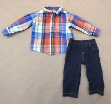 CARTER'S / PLACE Baby Boy's 6-9 Months Outfit Shirt & Knit Jeans CUTE