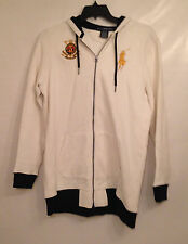 RALPH LAUREN POLO Challenge Cup White Cotton Hooded Zip Front Jacket Sweat XL