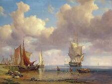 PAINTING SEASCAPE MARITIME VOLLMER CALM SEA ART PRINT POSTER PICTURE LF741