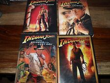 INDIANA JONES COLLECTION 5 DVD CRYSTAL SKULL LAST CRUSADE LOST ARK TEMPLE BOOM