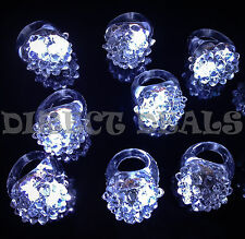 50 Pcs White LED Light Up Jelly Ring Rave Club Party Favors Glow Halloween Dance