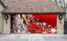 Christmas Garage Door Covers 3D Banners Outside House Decorations Billboard G29