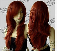 NEWJF124  vogue long orange red wome's health hair Wig wigs for women