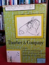Thurber and Company A New Collection of Drawings Male Female Animals 1966 HC 1st