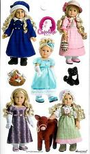AMERICAN GIRL CAROLINE STICKERS! MEET~HOLIDAY~PARTY~WINTER COAT~WORK OUTFITS!