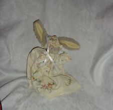 "1993 Vintage Ty Bunny Rabbit Bonnet Victorian 10"" Plush Soft Toy Stuffed Animal"
