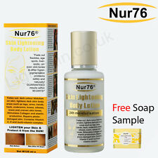 Nur76 Body Lotion Skin Lightening 125ml - * 1000+ sold * + FREE soap sample