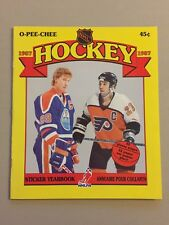 1987-88 OPC NHL EMPTY STICKER ALBUM - WAYNE GRETZKY COVER - MINT!!