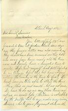 1893 Letter From St. Paul MN regarding Real Estate