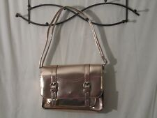 NWT's Bright Metalic Gold Mossimo Faux Leather Satchel / Bag