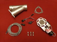 """Electric Exhaust Cutout BadlanzHPE Cutouts 2.25"""" 57mm SS  5 YEAR WARRANTY!"""
