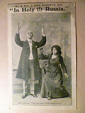 WW1 Theatre Postcard of Mr. & Mrs. J. Rice Cassidy's Coy In Holy (!) Russia