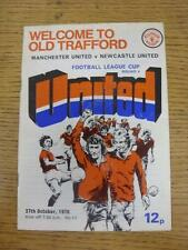 27/10/1976 Manchester United v Newcastle United [Football League Cup] (Creased,