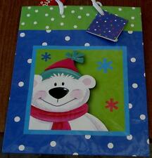 Christmas Holiday Gift Bag  - New with Tags - CHOOSE COLOR, SIZE,  AND DESIGN