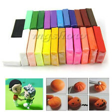 24pcs Colors DIY Craft Effect Polymer Clay Blocks Soft Moulding Creative Fun Toy