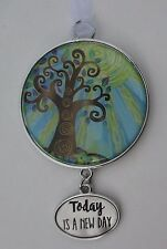 v Today is a new day TREE OF LIFE ORNAMENT Car charm ganz rehab divorce