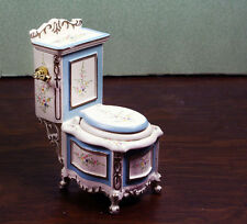 Miniature Dollhouse Furniture By JIAYI Cream Blue Commode 1/12 1:12 Scale New