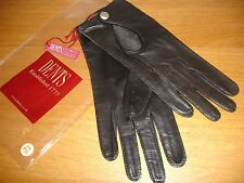 Women's Hair sheep Leather Driving Gloves BY Dents Man made Size: 7.5