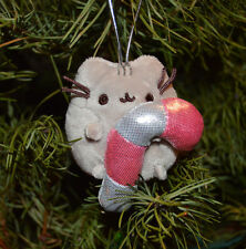 Pusheen The Cat Holding Candy Cane Christmas Ornament GUND Blind Box