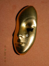 @@@Wunderschöne Brosche Gesicht Frau  Maske Goldfarben Modeschmuck@@@