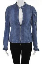 Juicy Couture Blue Cotton Denim Long Sleeve Jean Jacket Size Meidum