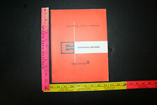 Delco Remey Training Chart Manual Section C Cranking Motors 12/1967