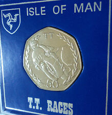 1982 Isle of Man Tourist Trophy Motorcycle Race TT Races 50p Coin Gift Display
