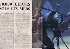 Coupure de presse Clipping 1954 20000 lieues sous les mers de W.Disney  10 pages