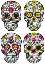 CANDY SKULLS STICKER DAY OF THE DEAD SKULL STICKERS SET OF 4