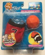 NEW Zhu Zhu Pets Hamster Red Sports Soccer Outfit & Orange Ball Fits All Hamster