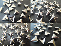 Star or Triangle Silver Stud pk of 10,20,30,50 or 100 - goth punk emo craft