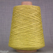 VISCOSE LINEN YARN LIME GREEN 500g CONE 10 BALLS 4 PLY KNITTING CROCHET WEAVING