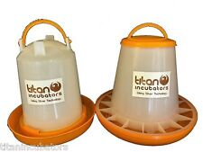 3kg Feeder & 3ltr Drinker Chicken / Poultry Using Silver Anti-Microbial Plastic