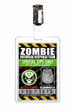 Zombie Outbreak Special ops unit ID Badge Cosplay Prop Comic Con Comic Con