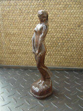 Agarwood Eaglewood Chenxiang Wood statue hand carved Nude EASTERN BEAUTY W234