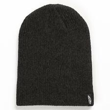 Vans Off The Wall Mismoedig Beanie Black Heather Cuff Hat 100% Acrylic New NWT