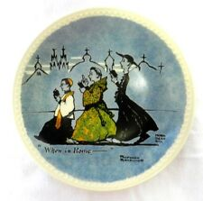 Newall Pottery Norman Rockwell On Tour When In Rome Collector Plate Limited Ed.