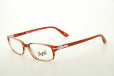 New Authentic Persol 2973-V 925 Red/Brown Transparent 50mm Italy Eyeglasses RX