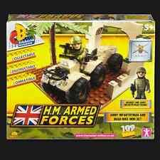 Character building h.m. forces armées armée moto quad mini set