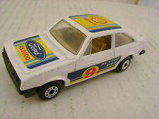 1978 MATCHBOX LESNEY SUPERFAST #9 WHITE FORD ESCORT RS2000